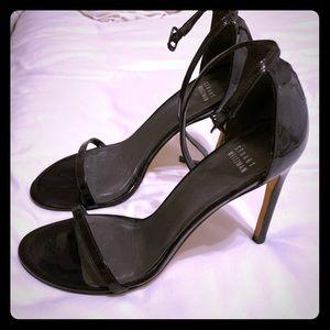 STUART WEITZMAN Nudistsong Black Patent Heels
